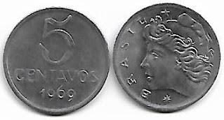 Moeda de 5 centavos, 1969