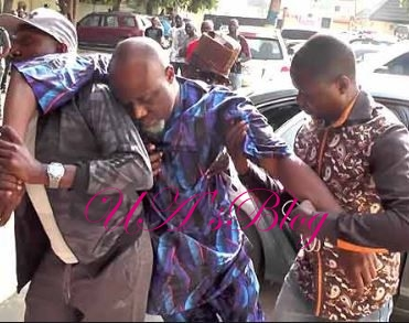 Drama As Dino Melaye Is 'Unable To Stand' In Court During His Criminal Trial In Abuja