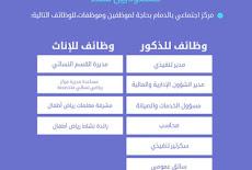 مركز اجتماعي بمدينة #الدمام يعلن عن توفر #وظائف شاغرة للسعوديين والسعوديات،