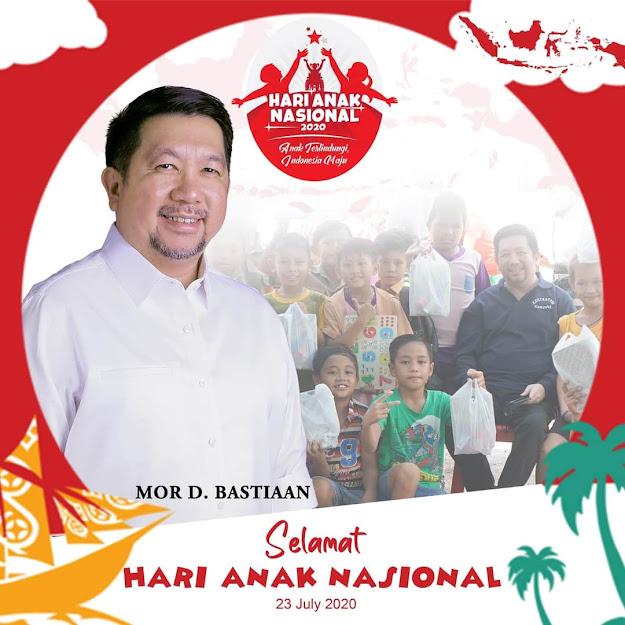 Wawali Mor Bastiaan Ucapkan Selamat Peringati Hari anak Nasional Tahun 2020