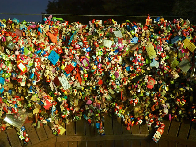 Love locks at N Seoul Tower, Seoul, South Korea