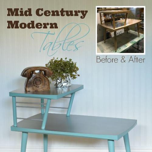 Faux Tin Mid-Century Modern Tabletops