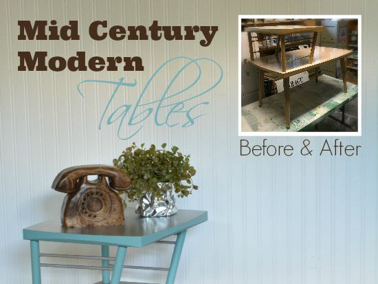 Faux Tin Mid-Century Modern Table Tops