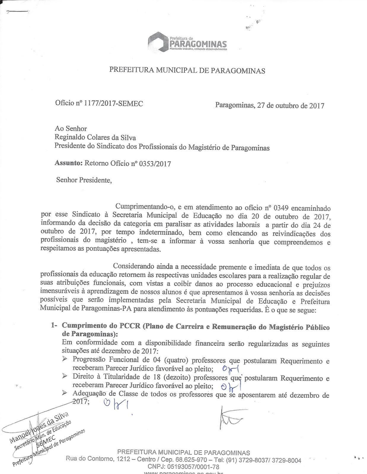 scan - Professores de Paragominas deflagram GREVE