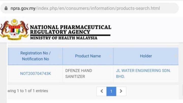 dfenze kkm approved sanitizer disinfectant spray