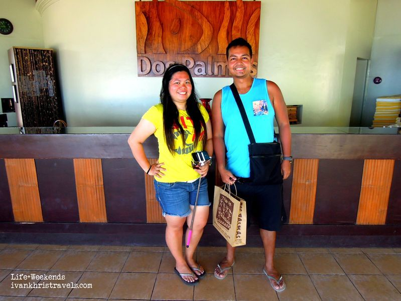 At the front desk of Dos Palmas Island Resort and Spa