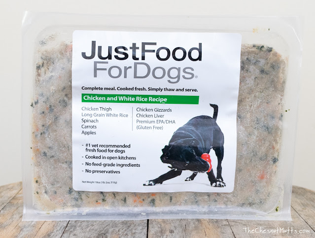 Just Food For Dogs chicken and white rice dog food