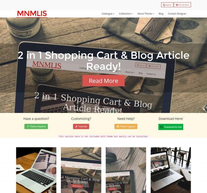 Free Ecommerce Blogger Template