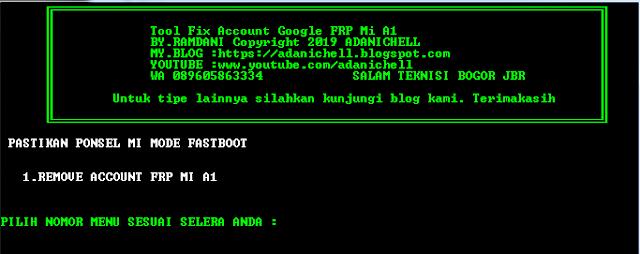 Bypass FRP Google Account Xiaomi MI A1