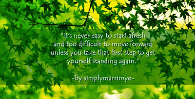 Starting Over Again by Simplymarrimye