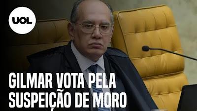 Gilmar Mendes vota no STF pela suspeição de Sergio Moro