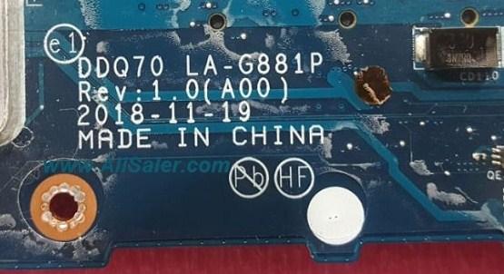 LA-G881P REV1.0 DDQ70 Dell Alienware Area-51M Bios