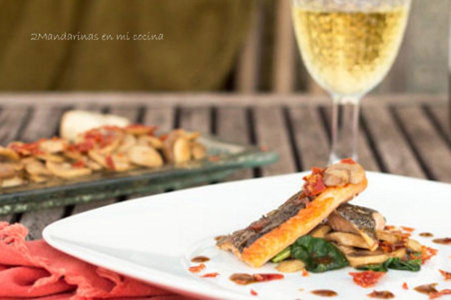 Trucha a la navarra versionada con vinagreta de mostaza y - Como cocinar la trucha ...