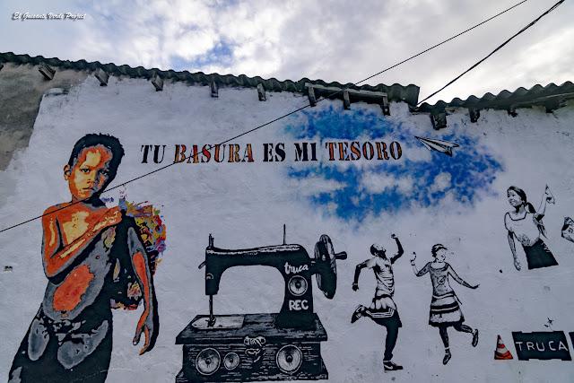 Mural 'Tu basura es mi tesoro', Zorrozaurre - Bilbao, por El Guisante Verde Project