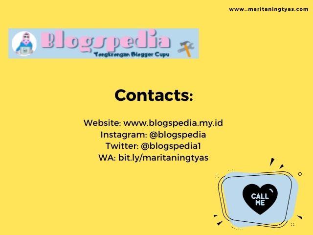 contacts blogspedia