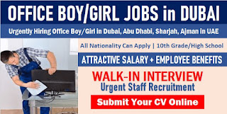 Office Boy & Girl Jobs Recruitment in Dubai 2021
