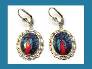 Peacock oorbelletjes