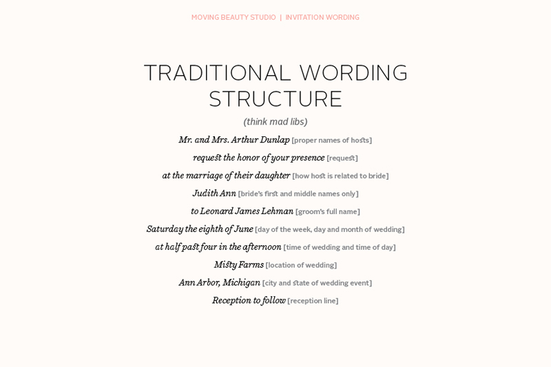Wedding Invitation By Bride And Groom Wording Samples: Moving Beauty: Wedding Invitation Wording 101