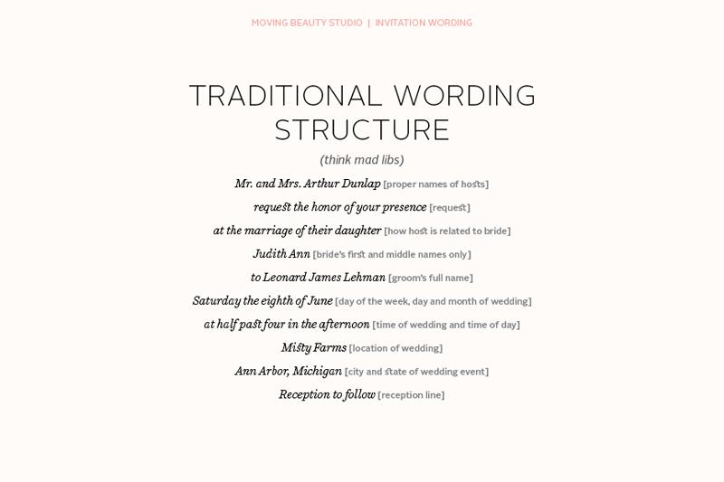 Wedding invitation wording samples bride and groom hosting matik unique wedding invitation wording bride and groom inviting brides pas stopboris Gallery