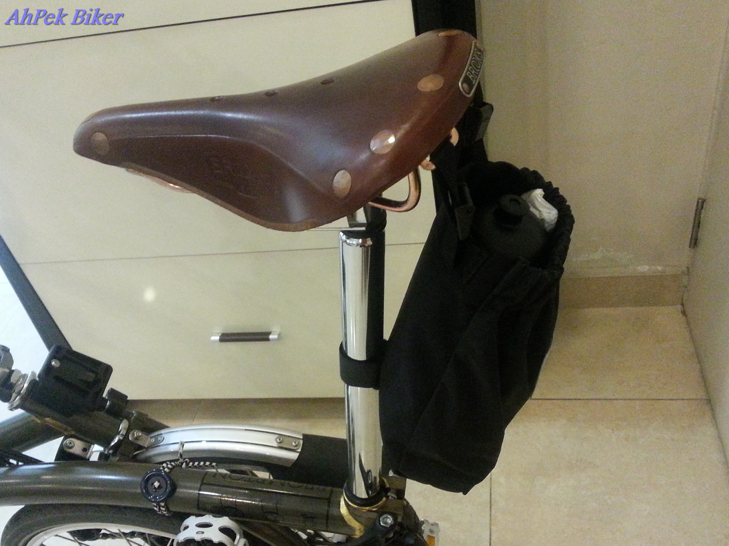 You Are At Jotaro S Blog Ahpek Biker Bikes Accessories Brompton 1 Modifying Saddle Bag Riding Adventures