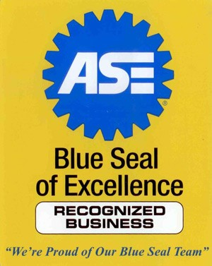We employ ASE certified Professionals Sign Automotive Mechanic Business Label