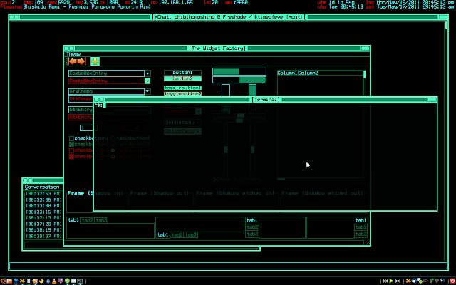 Trinity xfce hackers themes