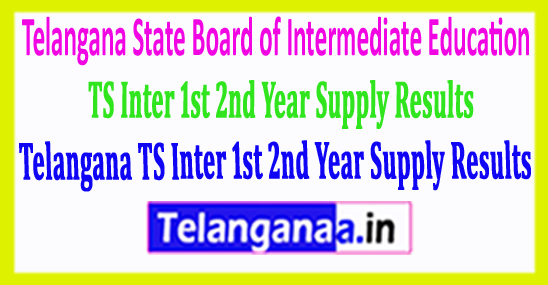 Telangana TS Inter 1st 2nd Year Supply Results 2018 Download