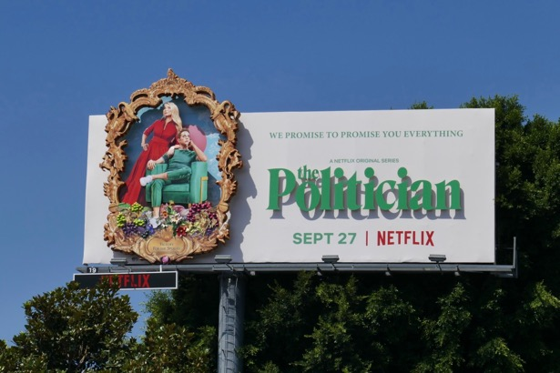 Politician 3D series premiere billboard