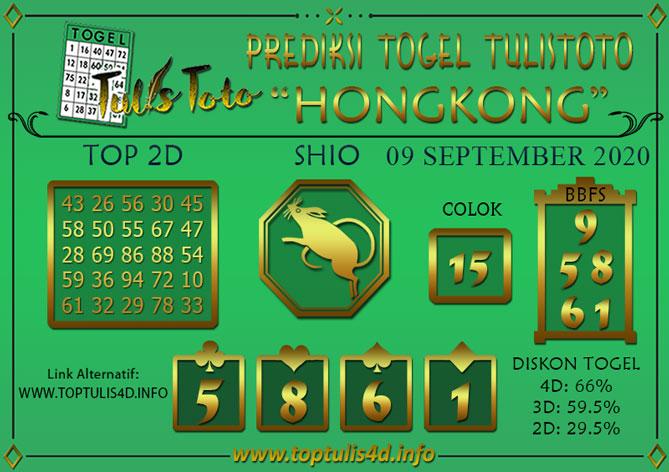 Prediksi Togel HONGKONG TULISTOTO 09 SEPTEMBER 2020