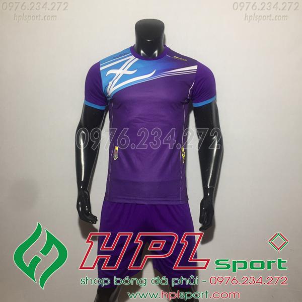 Áo bóng đá ko logo Zavikia HAT TA Màu Tím