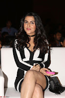 Ananya Soni in a Deep neck white blackl Dress at Shamanthakamani pre release function ~  Exclusive 085.JPG