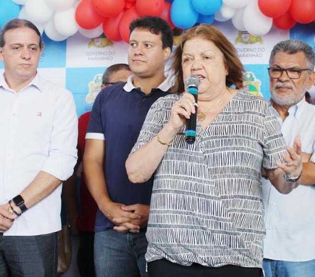 Deputada Cleide Coutinho, Felipe Camarão prefeito Fábio Gentil inauguram mais escolas dignas em Caxias