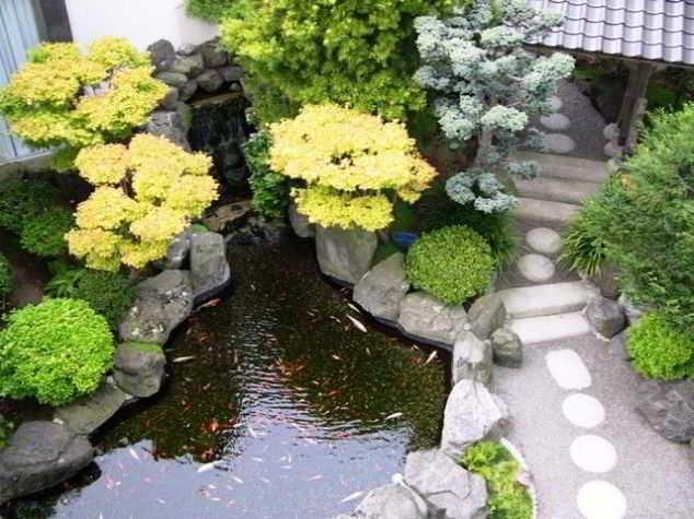 Model Desain Taman Minimalis dengan Kolam Ikan