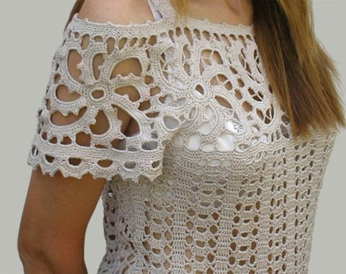 Best Free Crochet Pattern Sites : Sidney Artesanato: Blusa de crochet...chique