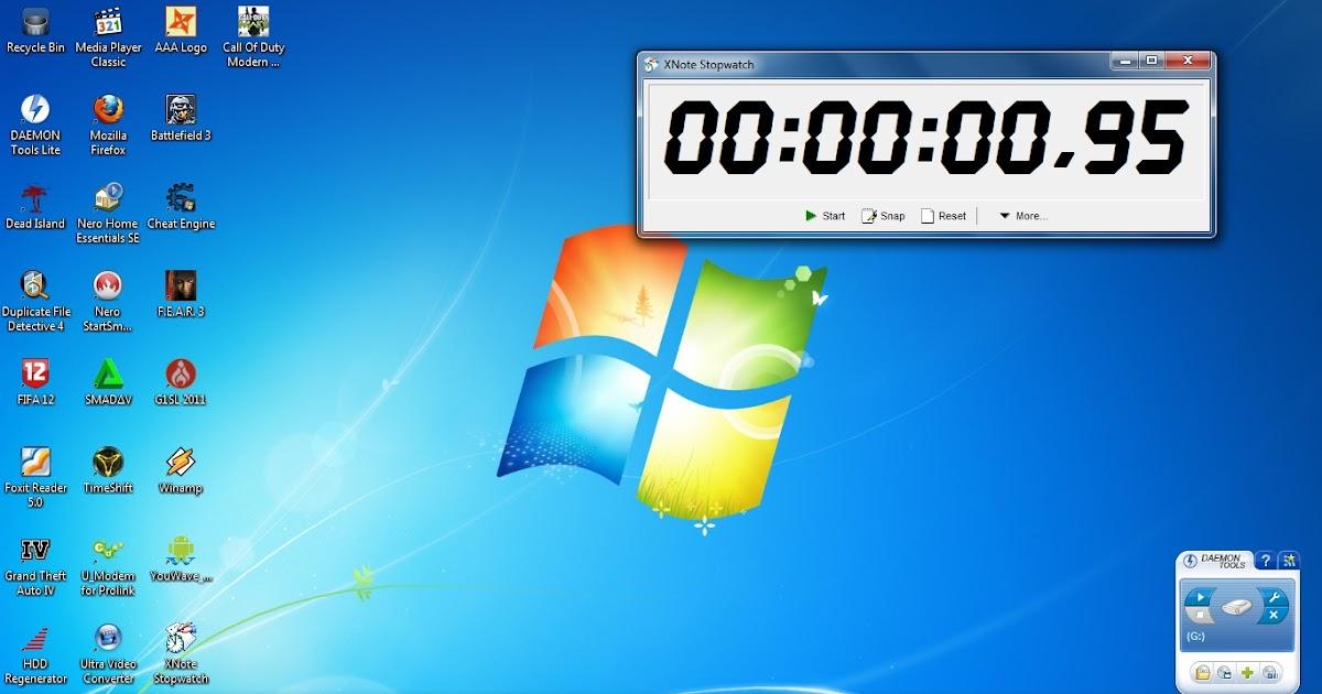 XNOTE STOPWATCH - PENGUKUR WAKTU DI PC | SOFTWARE GRATIS