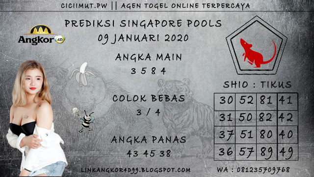 PREDIKSI SINGAPORE POOLS 09 JANUARI 2020