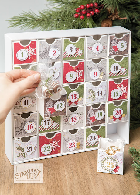 Christmas Countdown Advent Calendar Kit Stampin Up