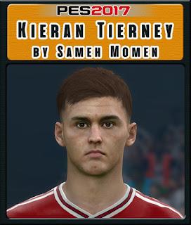 PES 2017 Faces Kieran Tierney by Sameh Momen