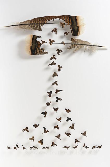 Bermodalkan Bulu Burung, Seniman Ini Ciptakan Karya Seni Menarik