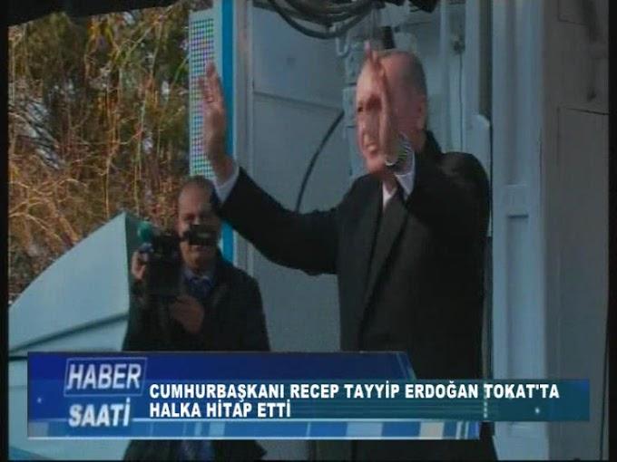 Cumhurbaşkanı Erdoğan Tokatlılara hitap etti.