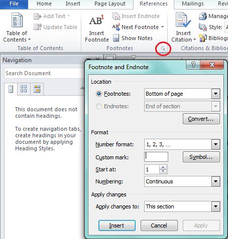 Cách sử dụng Footnote và endnote trong word