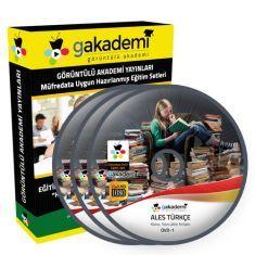 Görüntülü ALES Türkçe Çözümlü Soru Bankası Eğitim Seti 6 DVD