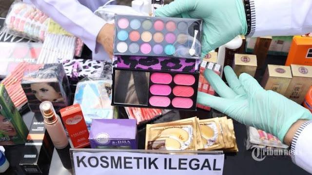 kosmetik berbahaya yang disita oleh BPOM