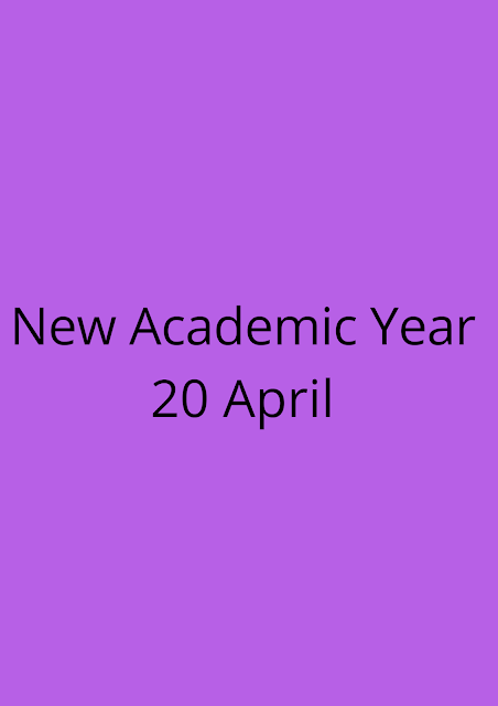 New academic year