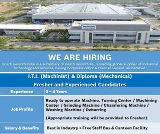 Bosch Rexroth (India) Private Ltd Jobs Vacancy For ITI and Diploma Fresher and Experienced Holders| Apply Online