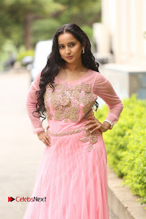 Ishika Singh in peach anarkali dress at Karulo Shikarukelithe Teaser Launch