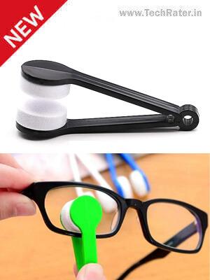 Microfiber Eyeglass Lens Cleaner Brush Clip