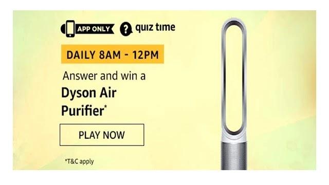 Amazon Dyson Air Purifier Quiz Answers - Win Dyson Air Purifier