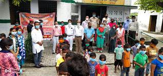 VBSPU : स्वयंसेवकों ने मीरपुर में वितरित किया 1200 मास्क | #NayaSaberaNetwork