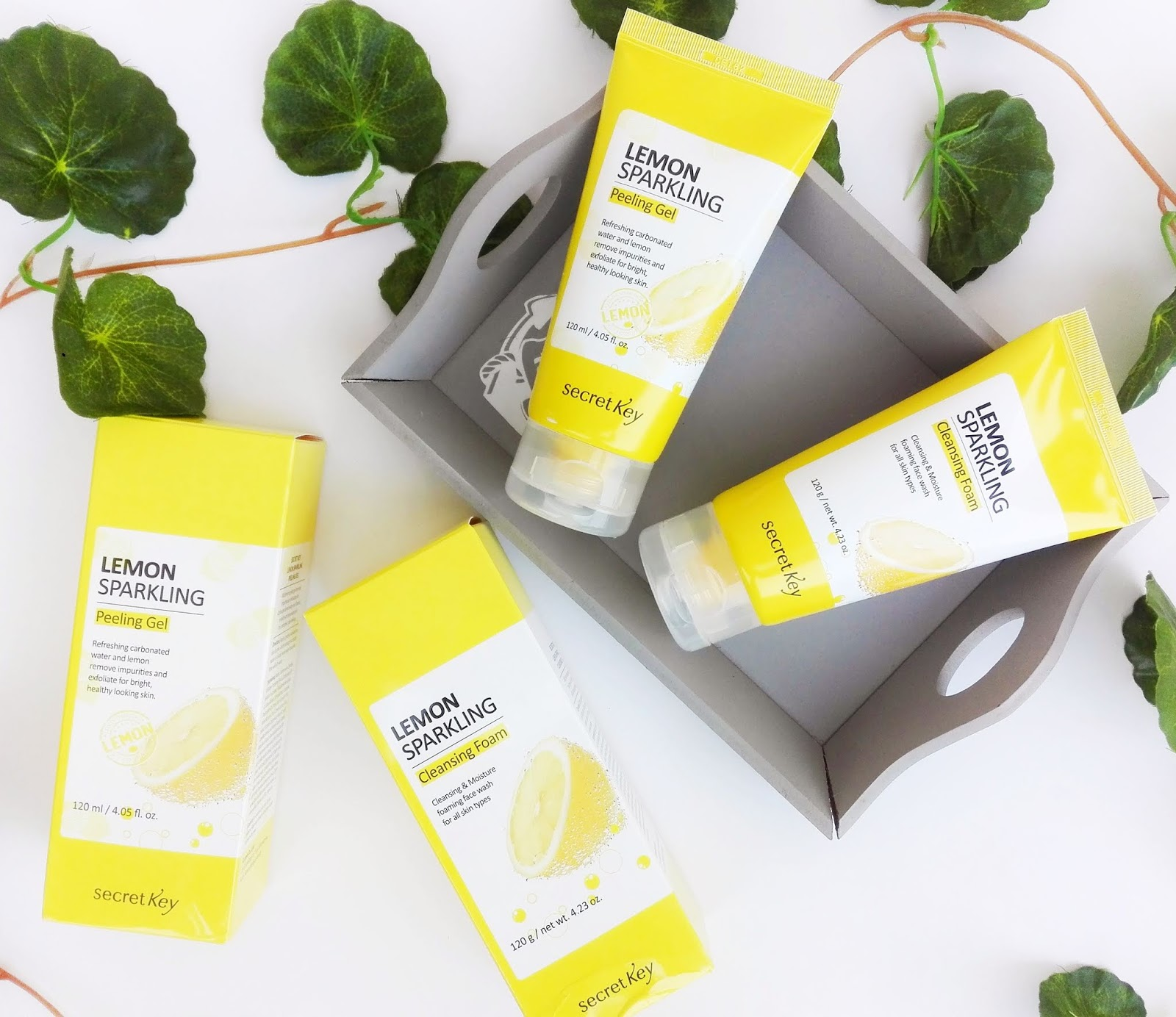 Review Secret Key Lemon Sparkling Cleansing Foam Lemon Sparkling Peeling Gel Beauty Dewdrop Blog